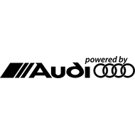 Наклейка Powered by Audi, фото 1