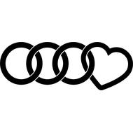Наклейка Love Audi, фото 1