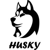 Наклейка Husky, фото 1