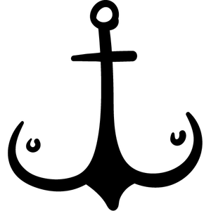 Наклейка Якорь-Сиськи, фото 1