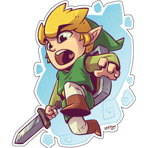 Стикер  The Legend of Zelda, Link, фото 1