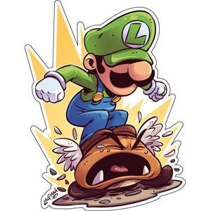 Стикер Super Mario Луиджи, фото 1