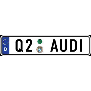 Наклейка Евро-номер AUDI Q-серии, фото 1