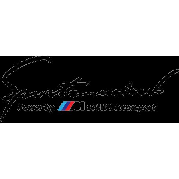 Наклейка Sports mind BMW, фото 13