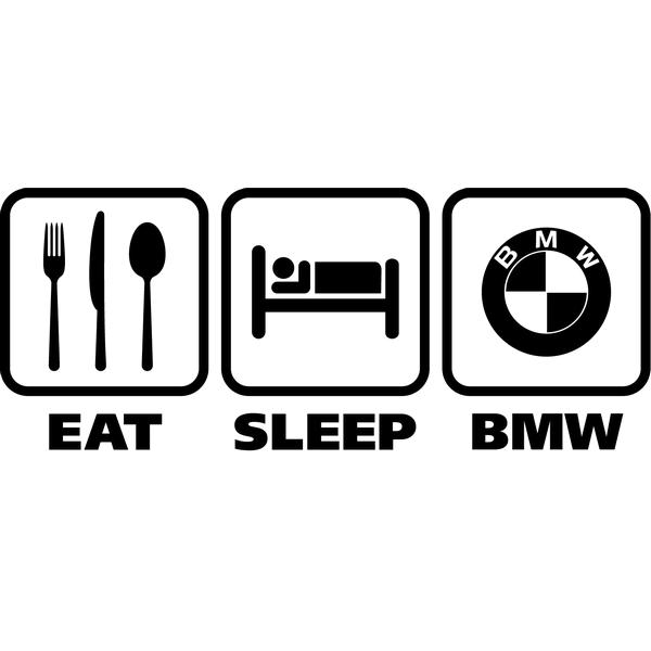Наклейка Eat Sleep BMW, фото 13