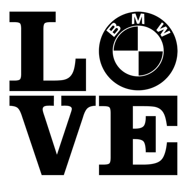 Наклейка Love BMW, фото 13