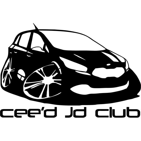 Наклейка Ceed Jd club, фото 13