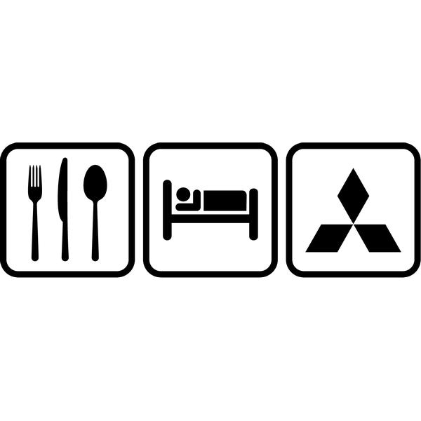 Наклейка Eat Sleep Mitsubishi, фото 13