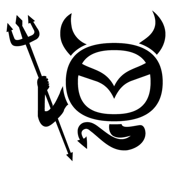 Наклейка Mazda Devil, фото 13