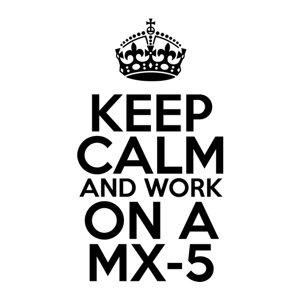 Наклейка Keep Calm and work on a MX-5, фото 13