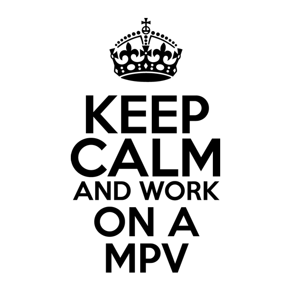 Наклейка Keep Calm and work on a MPV, фото 13