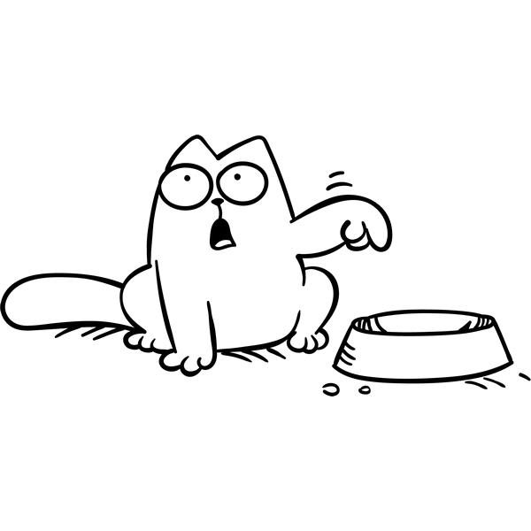 Наклейка Кот Саймона с миской, фото 13