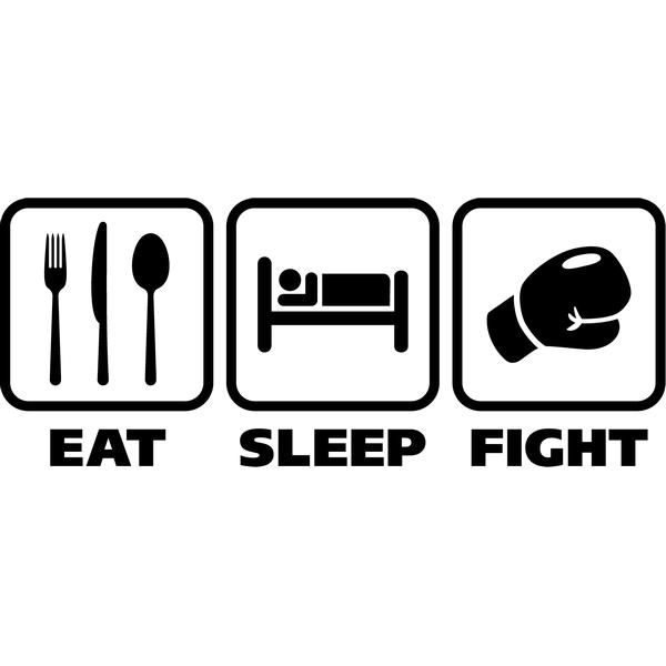 Наклейка Eat sleep fight, фото 13