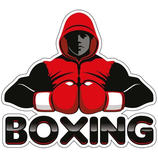 Наклейка Боксер в красном, фото 1