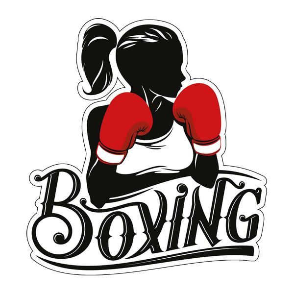Наклейка Boxing girl, фото 1