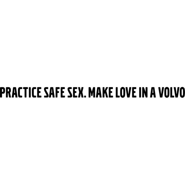 Наклейка Make love in volvo, фото 13
