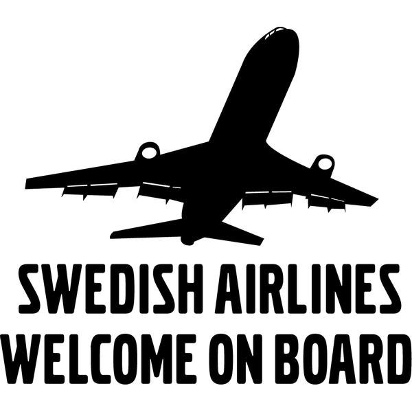 Наклейка Swedish airlines, фото 13