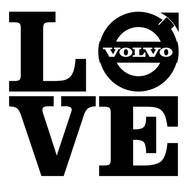 Наклейка Love volvo, фото 13