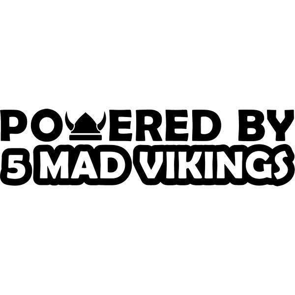 Наклейка Powered by 5 mad vikings, фото 1