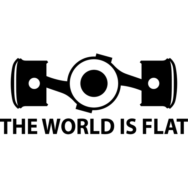 Наклейка The world is flat, фото 13