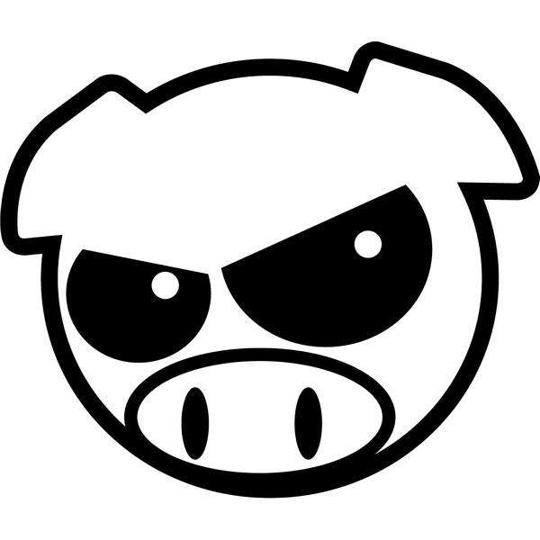 Наклейка Subaru Pig хмурая, фото 13