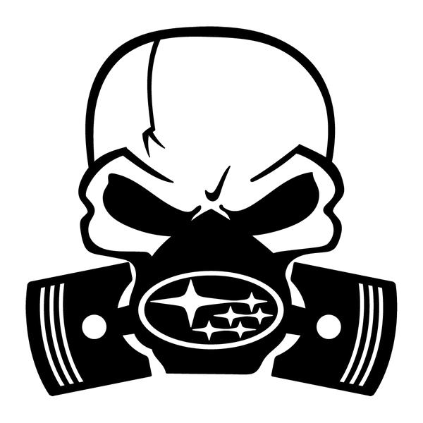 Наклейка Subaru Skull, фото 13