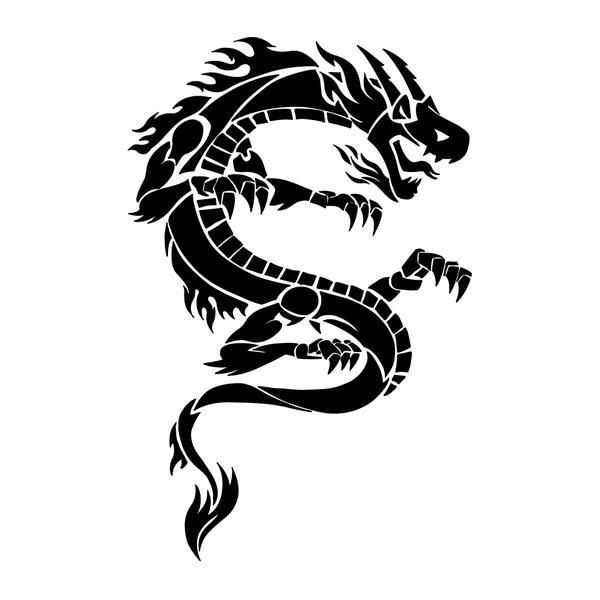 Наклейка Дракон-010, фото 13