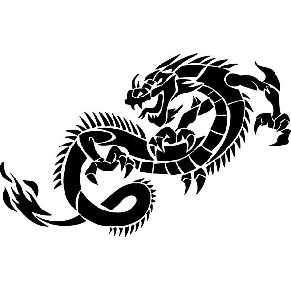Наклейка Дракон-012, фото 13