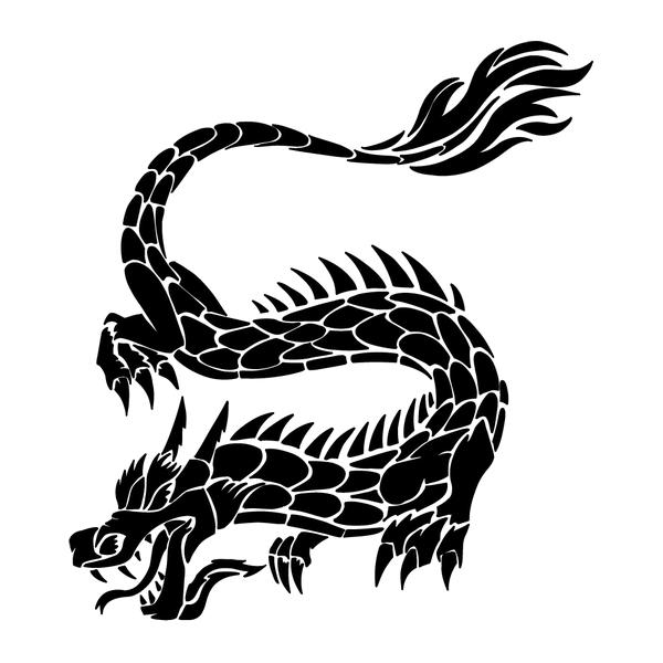 Наклейка Дракон-015, фото 13