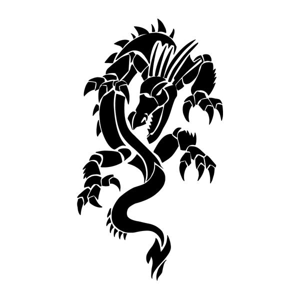 Наклейка Дракон-018, фото 13