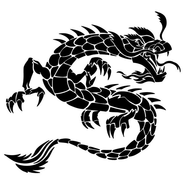 Наклейка Дракон-019, фото 13