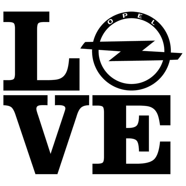 Наклейка Love Opel, фото 13