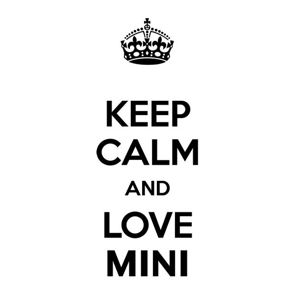 Наклейка Keep Calm and love Mini, фото 13