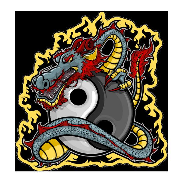 Наклейка Дракон-022, фото 1