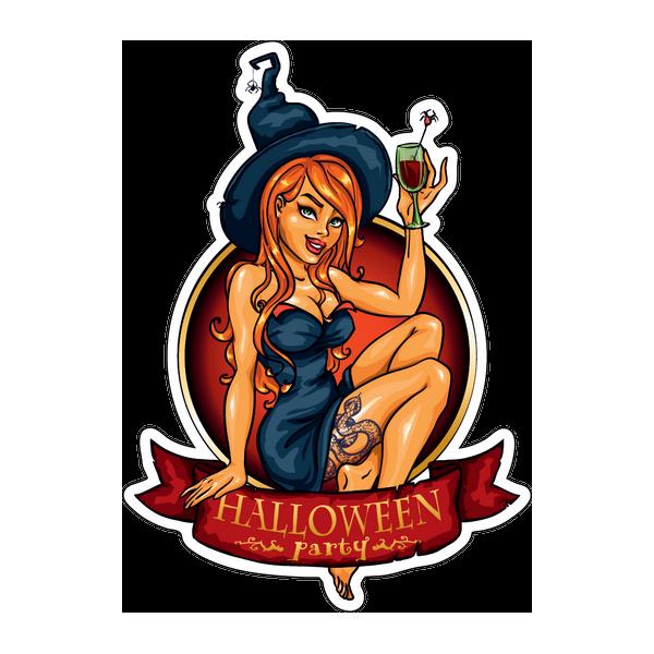 Наклейка Halloween party, фото 1