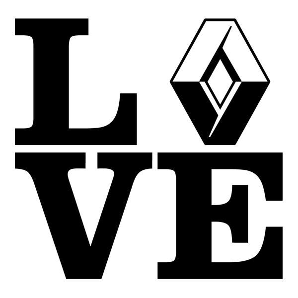 Наклейка Love Renault, фото 13