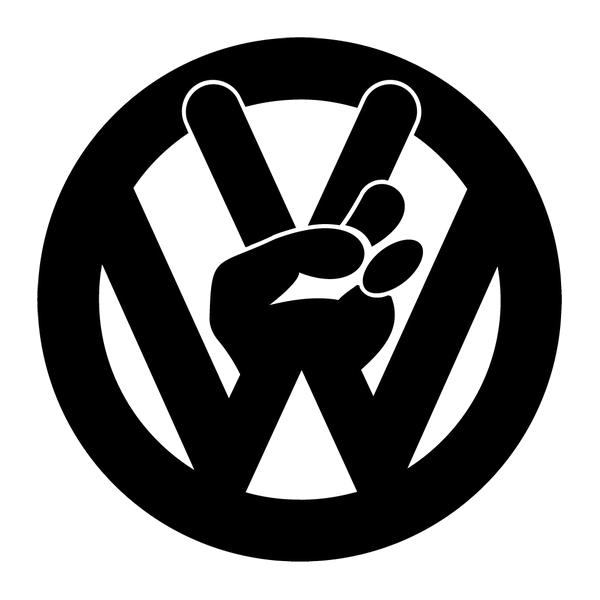 Наклейка VW peace, фото 13