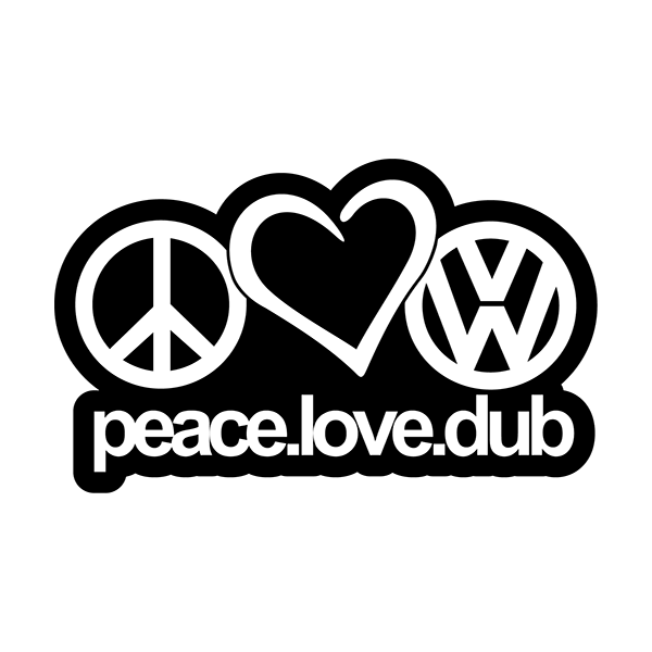 Наклейка Peace.Love.Dub, фото 13