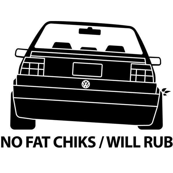 Наклейка No fat chicks, фото 13