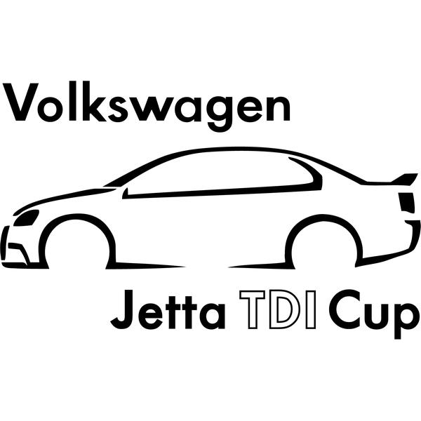 Наклейка VW Jetta TDI Cup, фото 13
