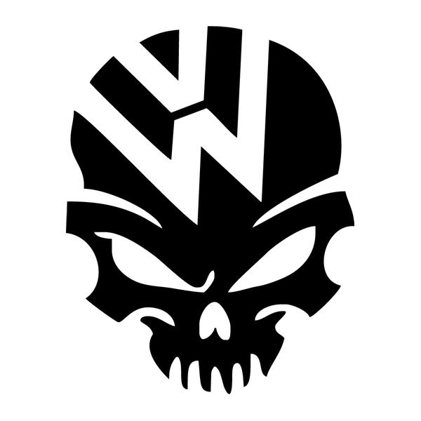 Наклейка VW skull, фото 13