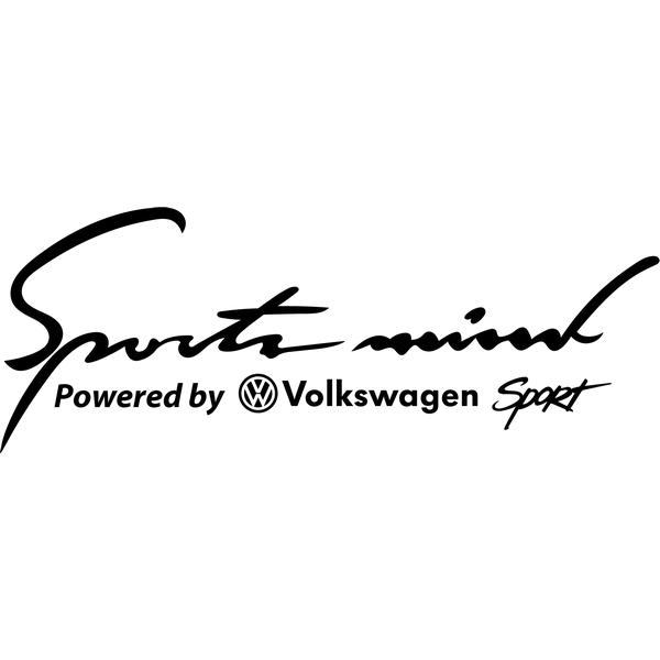 Наклейка Sports mind VW, фото 13