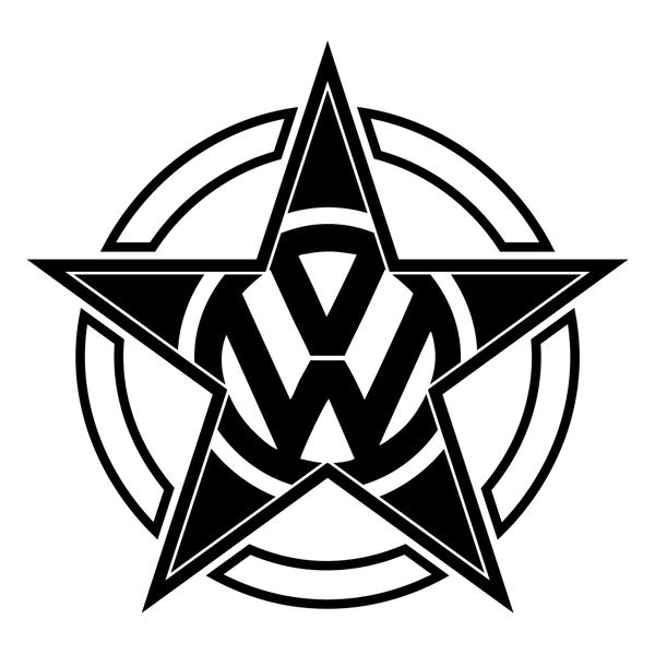 Наклейка VW pentagram, фото 13
