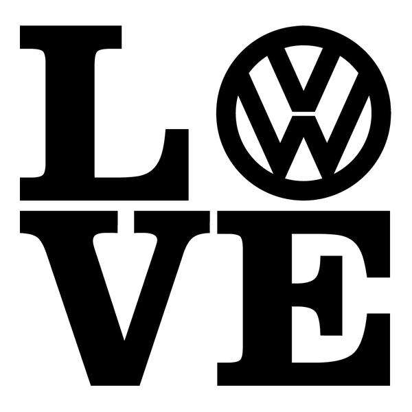 Наклейка Love Volkswagen, фото 13