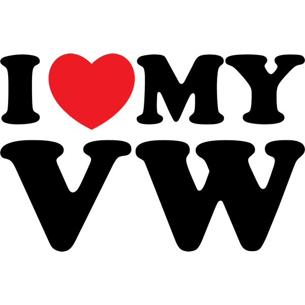 Наклейка I love my VW, фото 13