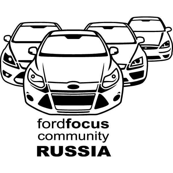 Наклейка Ford Focus community Russia, фото 13
