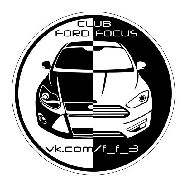 Наклейка Ford Focus Club, фото 1