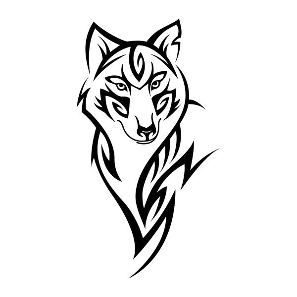 Наклейка Волк-015, фото 13