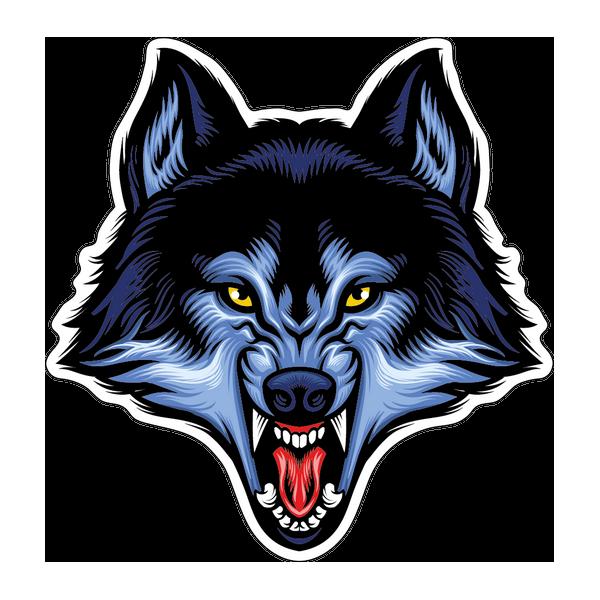 Наклейка Волк-009, фото 1