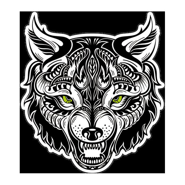 Наклейка Волк-014, фото 1